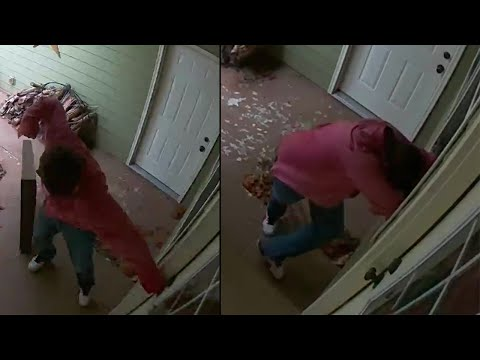 Terrifying Video Shows Man Breaking Into Home, Forcing Mom and Toddler to barricade in bathroom