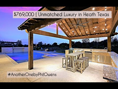$769,000 | UNBELIEVABLE LUXURY AT THIS PRICE ONLY In HEATH TEXAS | #POSH Home 25 Min's From Dallas