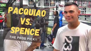 Manny Pacquiao vs  Errol Spence   Predictions from the Mayweather Boxing Club!