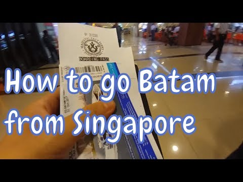 Singapore to Batam, Indonesia via HarbourFront Centre Ferry Terminal (on Majestic Fast Ferry)