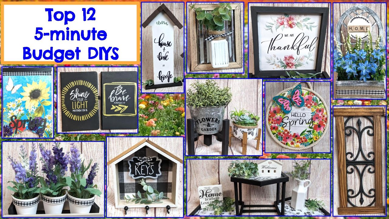 Download TOP 12 EASY, 5 MINUTE BUDGET FARMHOUSE DIYS | MUST TRY | HIGH END LOOKING | DOLLAR TREE DIY