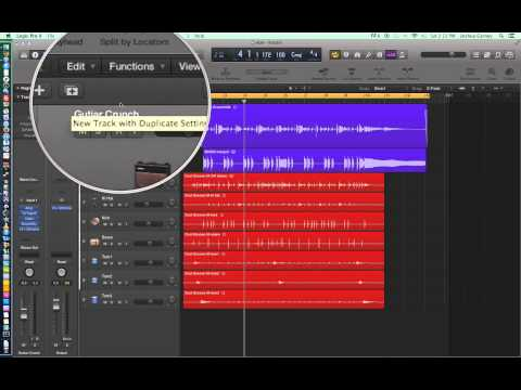 Logic Pro X - Video Tutorial 06 - Cycle Record (Loop Record), Duplicate Tracks
