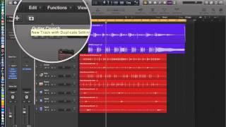 Logic Pro X - Video Tutorial 06 - Cycle Record (Loop Record), Duplicate Tracks