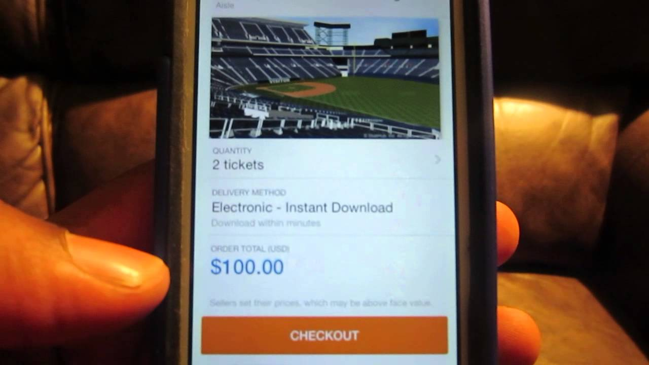 stubhub electronic tickets vs instant download
