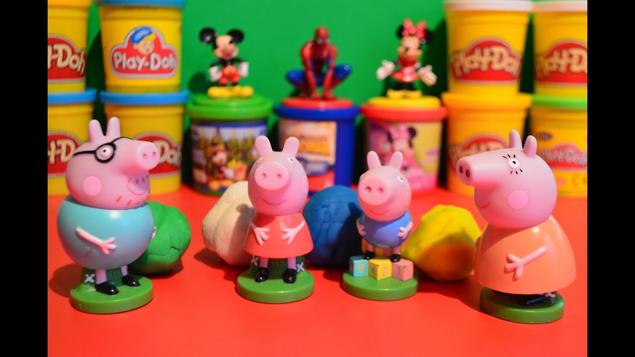 Play Doh 5 Peppa Pig Play Doh Kids Toys Channel USA