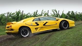 Supercars Getting Stuck in the Mud!