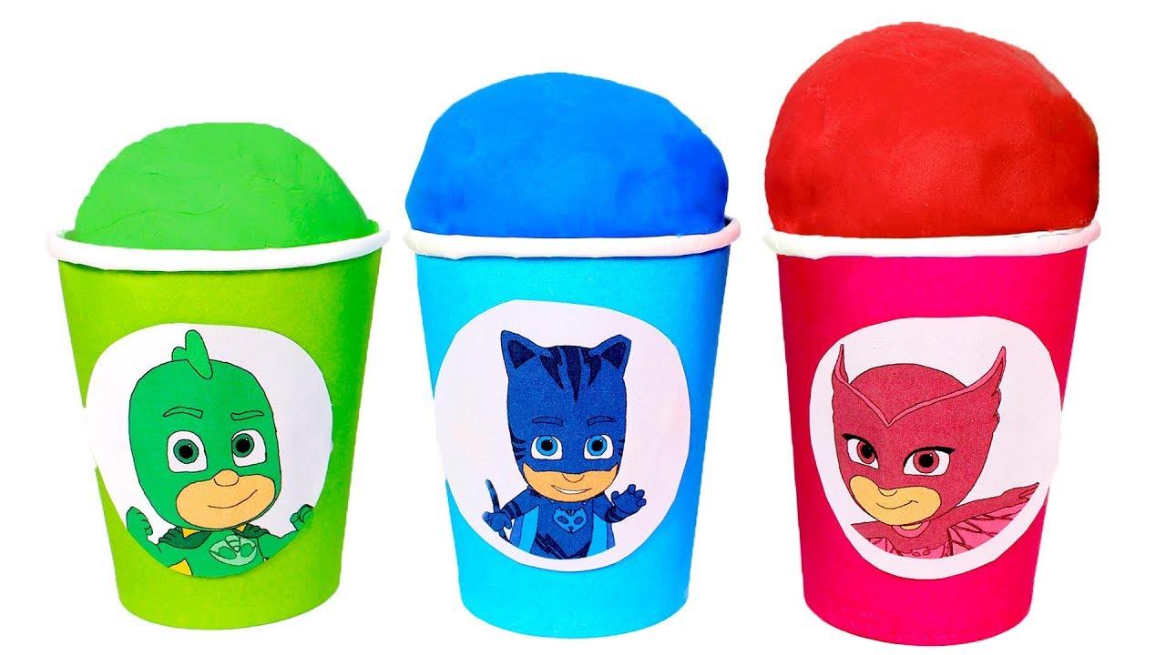 Download PJ MASKS 🎭 Vasos Sorpresa de colores de los Heroes en pijama