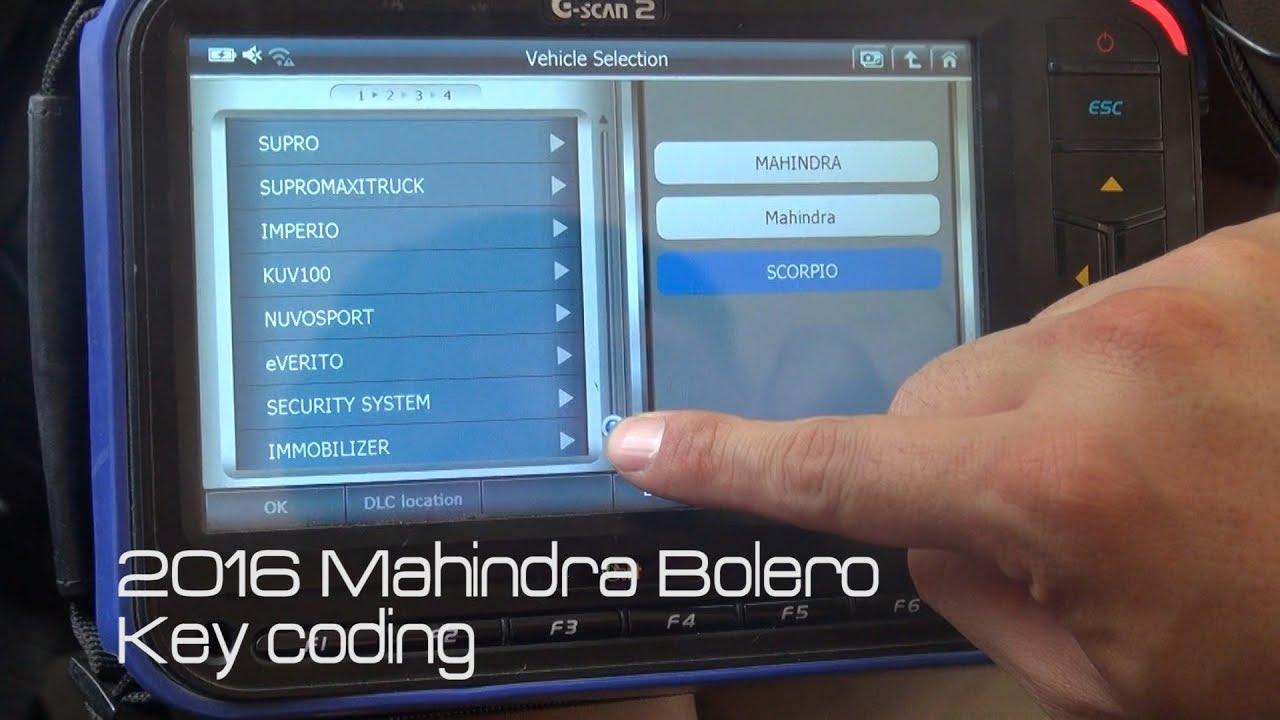 [G-scan] 2016 Mahindra Bolero Key Coding