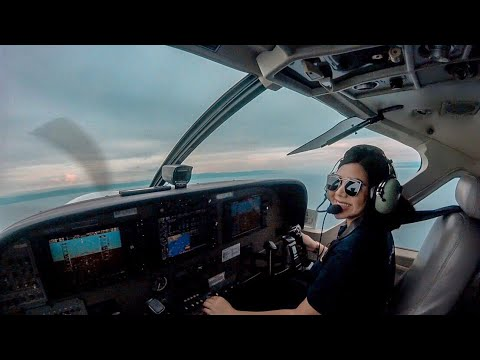 Lady Pilot Cristina Decena First Solo Flight Cessna 152 Philippines