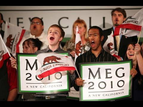 Meg Whitman's Post-Debate Rally in Costa Mesa