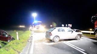 """Wypadek na krajowej """"12"""". Skrzyżowanie Borek Wlkp. - Gostyń - Strumiany - www.gostynska.pl"""