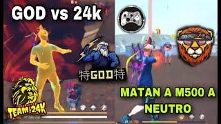 GOD vs 24K / 4vs4 POR 100$ *los descansan a g18* 😨🔥
