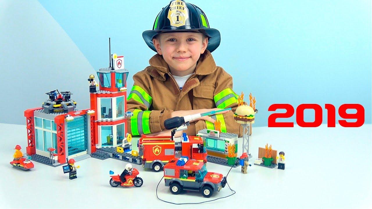 Пожарное Депо ЛЕГО СИТИ и Пожарный Даник - Новые наборы Lego пожарных 60214 и 60215