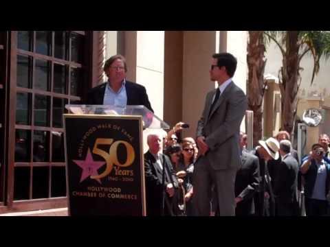 Producer Lorenzo di Bonaventura congratulates Mark Wahlberg