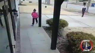 Security Cam Catch Potential P*edator Following Melanated Girl