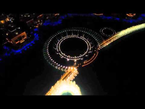 Fountains of Bellagio from a Drone - Bruno Mars - Uptown Funk