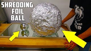 Shredding Giant Mirror Polished Japanese Aluminium Foil Ball