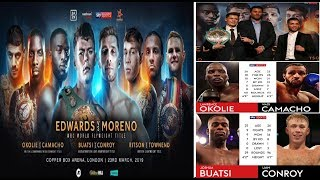 *GREAT CARD* FULL MATCHROOM BOXING CARD BREAKDOWN FOR THE COPPERBOX!!