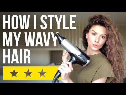 КАК БЫСТРО УЛОЖИТЬ ВЬЮЩИЕСЯ ВОЛОСЫ | WAVY HAIR ROUTINE