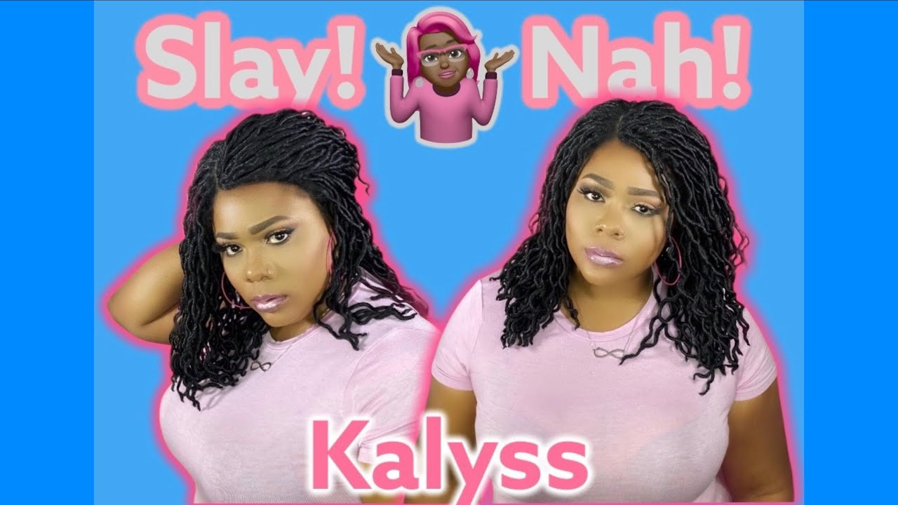 Summer heat got you DREADING this! Faux Locs Braid Wig review l ft. Kalyss