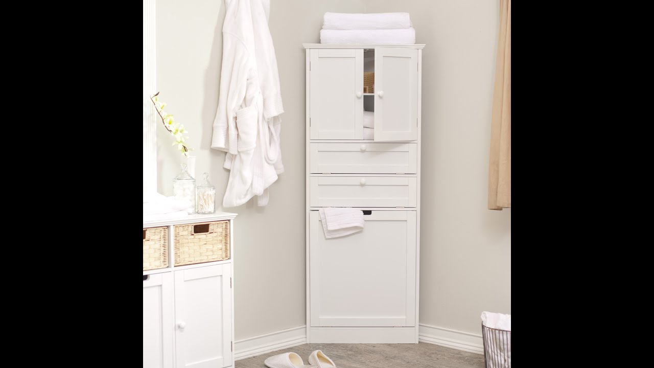 Home depot bathroom storage cabinets - YouTube