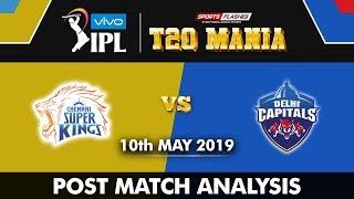 Chennai super kings vs Delhi Capitals Qualifier 2 Post Match Analysis  IPL 2019