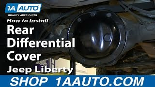 How To Install Replace Rear Differential Cover 2002-07 Jeep Liberty
