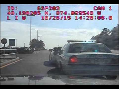 New Jersey State Trooper's alleged DWI crash — full dashboard camera video
