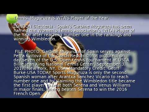 Tennis: Muguruza is WTA's Player of the Year