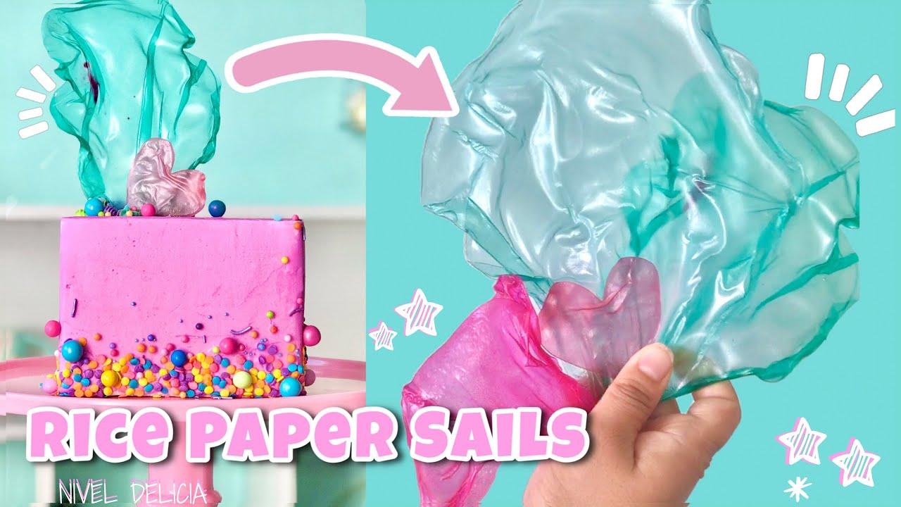 RICE PAPER SAILS   CAKE TOPPER decoraciones con PAPEL DE ARROZ   Nivel Delicia