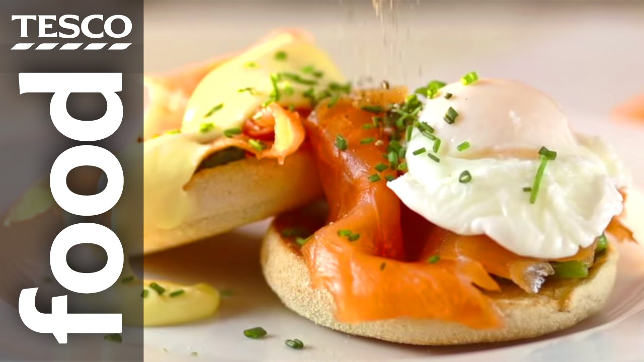 How To Make Eggs Benedict With Smoked Salmon And Spinach  Tesco Food   Youtube