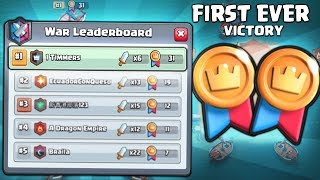 CLUTCH! FIRST EVER CLAN WAR WIN FOR 1 TIMMERS! | Clash Royale | BEST CLAN WARS ATTACKS!!