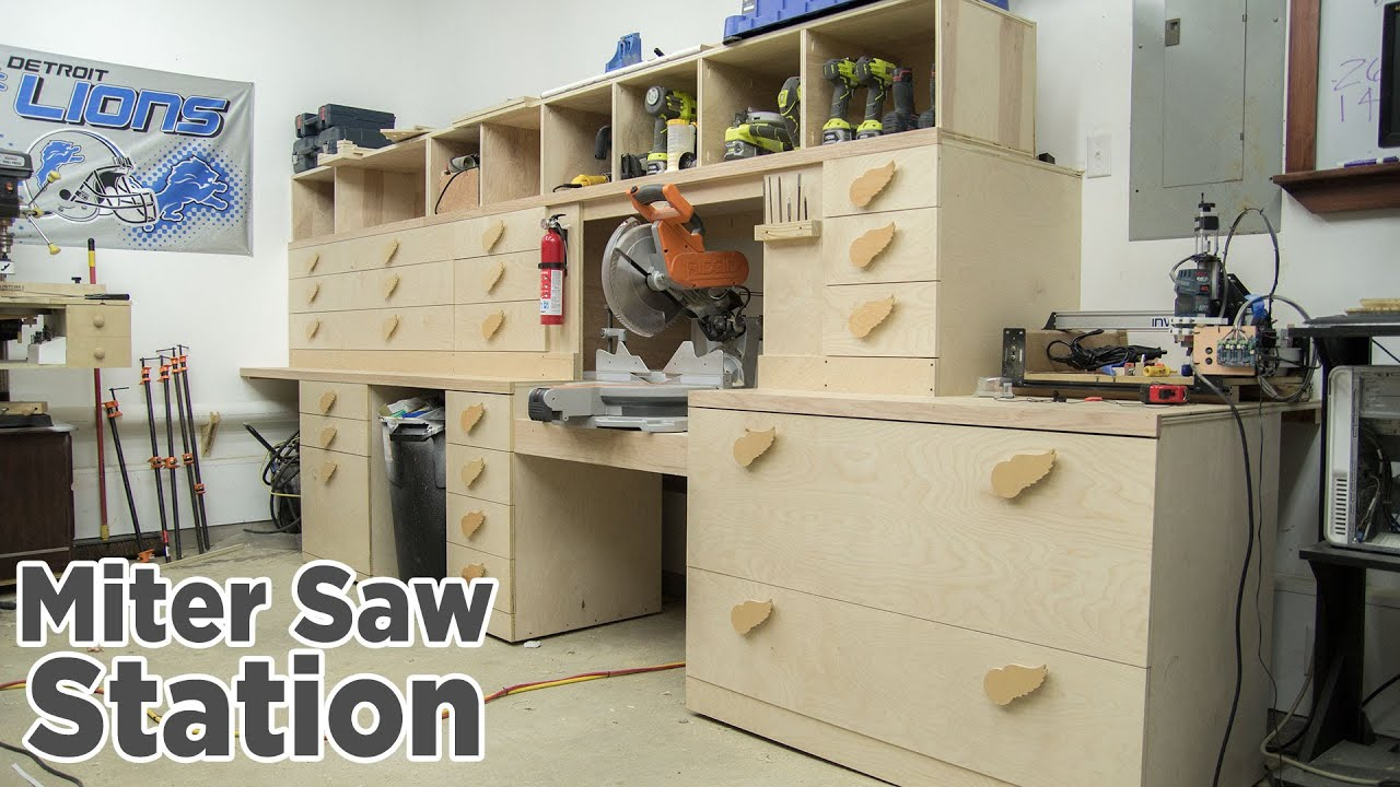 Miter Saw Station Storage Boxes And Drawer Fronts 196