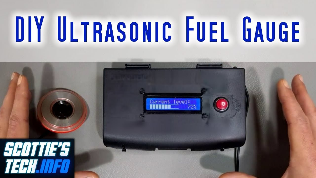 DIY Ultrasonic Fuel Gauge / Level Sensor | Scottie's Tech Info
