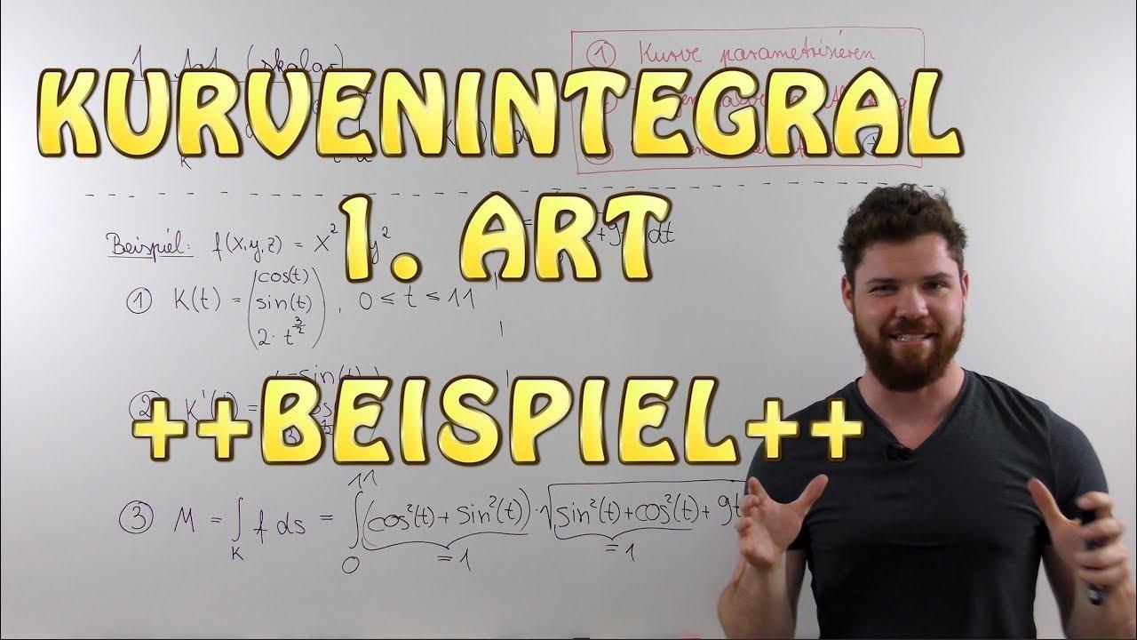 Kurvenintegral 1 Art Skalar Beispiel Masse Eines Drahtes Entlang Einer Helix Youtube