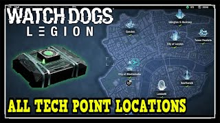 Watch Dogs Legion All Tech Point Locations (130 Tech Point Locations)