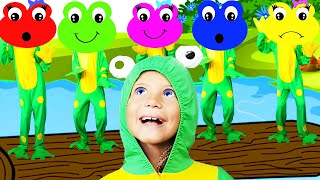 Five Little Speckled Frogs | Songs for Kids and Children by Baa Bee