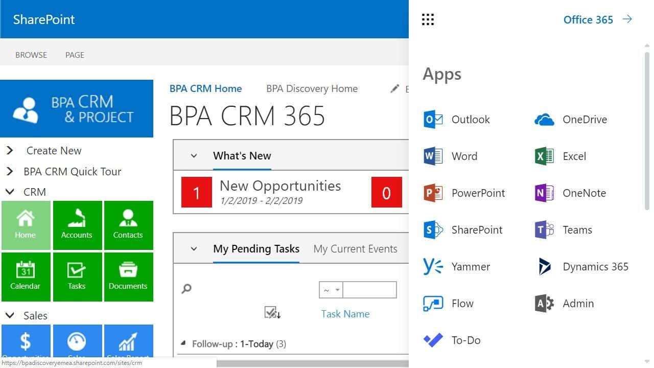SharePoint CRM Software & Platform   BPA Solutions