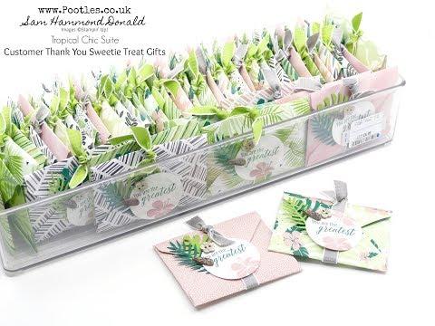 Tropical Chic Envelope Punch Board Customer Thank You Gifts - วันที่ 06 Jul 2018