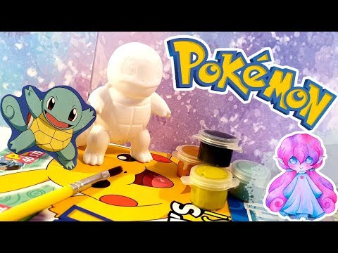 Painting a miniature Pokemon - Squirtle!