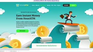 HourATM Hourly HYIP!! Is it Scam? Still Paying? 1.17% for 90hrs!!!