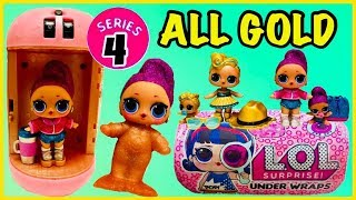 LOL Surprise UNDER WRAPS Unboxing | GOLD BALL RARE & ULTRA RARE FOUND | SERIES 4 Dolls & Lil Sisters