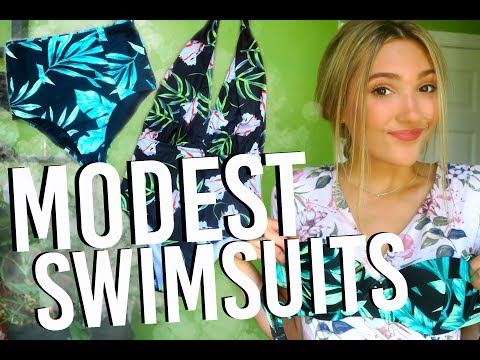 Modest Swimsuit Collection 2017! High Waisted and One Pieces! Michelle Reed