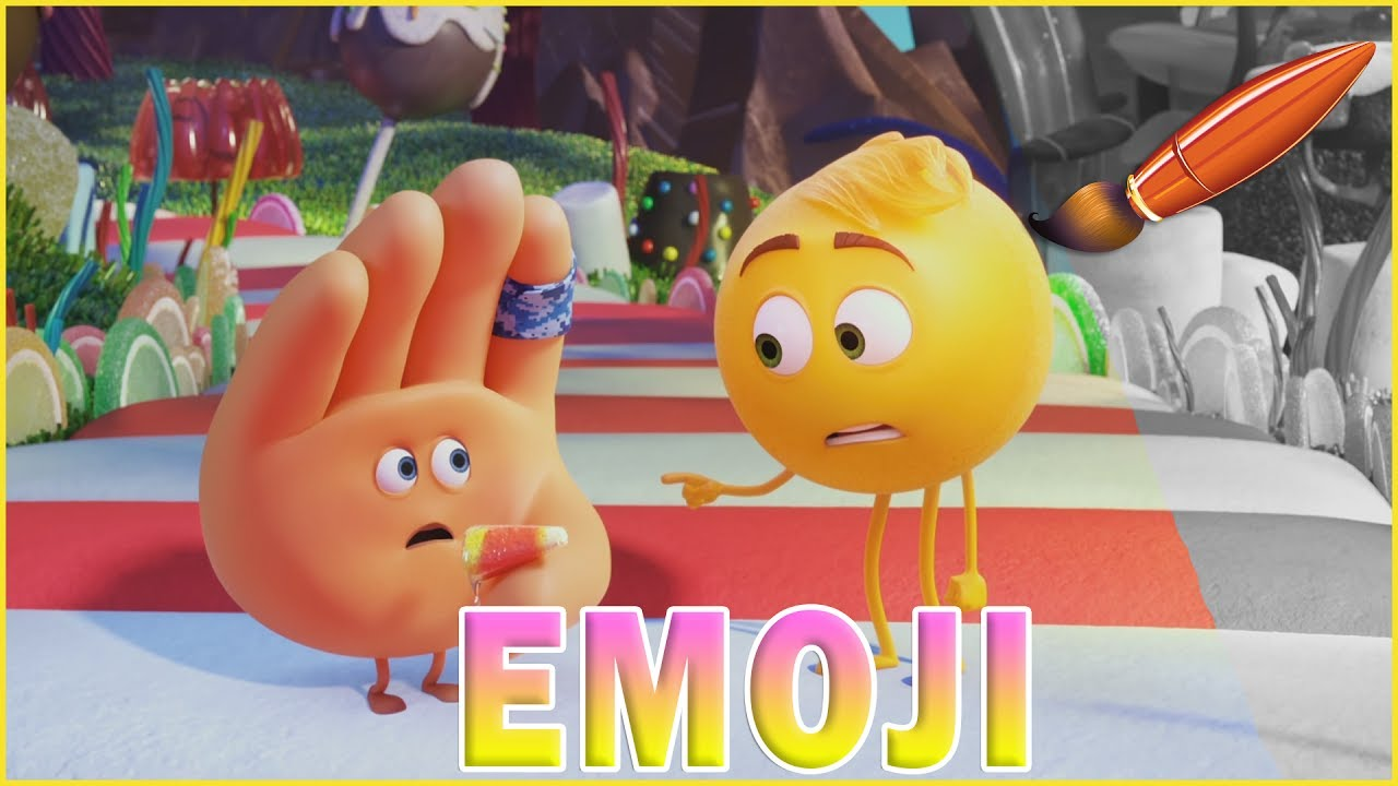 Hi 5 coloring pages - Emoji Movie Coloring Book For Kids Kids Coloring Pages With Gene And Hi 5 Eating Candy