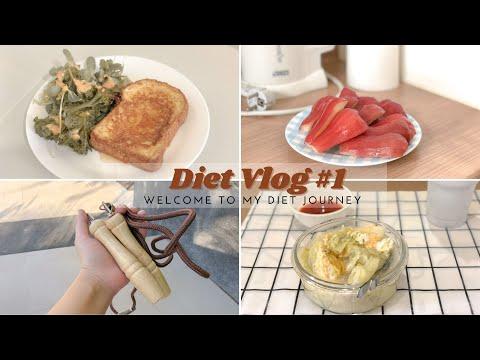 Diet Vlog 1: สัปดาห์แรกของการลดน้ำหนัก , ลองทำอาหารกินเอง🍳 , ชีวิตติดบ้านกับการ work from home 🏠