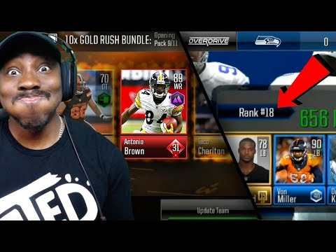 PULLING 89 OVR ANTONIO BROWN & BEATING #18 RANKED PLAYER! MADDEN MOBILE 19 OVERDRIVE GAMEPLAY! Ep. 6