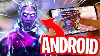 FORTNITE FOR ANDROID IS FINALLY THERE!! HOW TO GET THE GALAXY SKIN in FORTNITE for FREE!