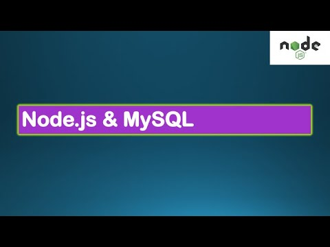 Node.js Tutorials #4 - Node & MySQL - How to use Mysql database with Node.js