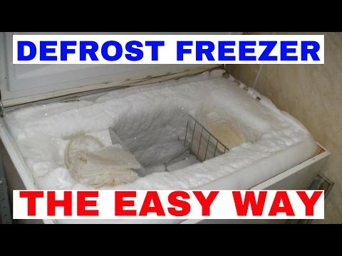How To Defrost / Remove Ice From Your Deep Freezer