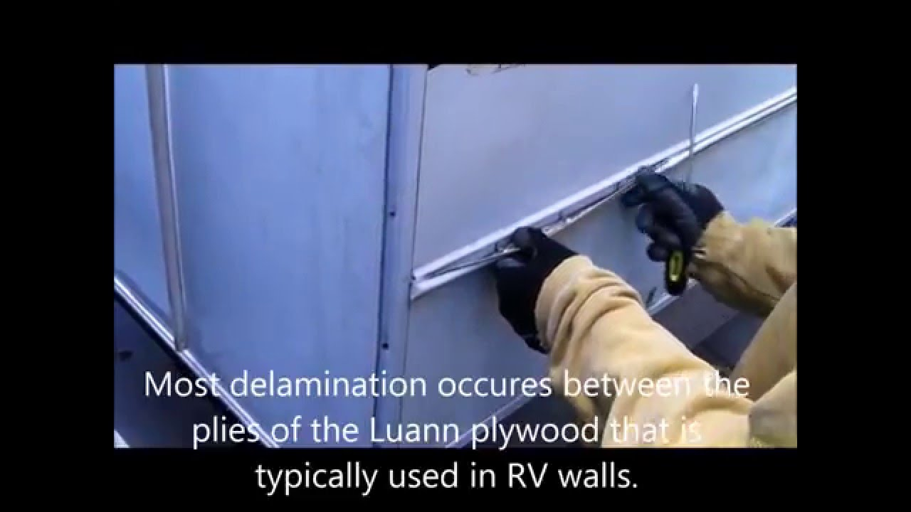 Repairing A Delaminated Rv Wall And Bubbled Filon Youtube